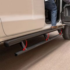 Aries Automotive ACTIONTRAC POWERED RUNNING BOARDS (Pair) For 2020 Jeep Gladiator JT 3047975