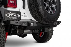ADD Offroad Rear HD Stealth Fighter Bumper (allows Tire Carrier Mounting) with Backup Sensors for 18+ Jeep Wrangler JL, JLU R961321280103