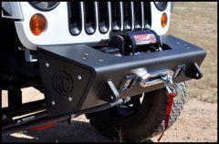 Addictive Desert Designs Stealth Fighter Modular Front Bumper In Black With KC HiLiTeS Logo & D-Ring Mounts For 2007-18 Jeep Wrangler JK 2 Door & Unlimited 4 Door Models F951241380103