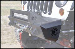 Addictive Desert Designs Stealth Fighter Rock Side Caps With KC HiLiTeS Logo For 2007-18 Jeep Wrangler JK 2 Door & Unlimited 4 Door Models F95127NA01NA