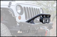 """Addictive Desert Designs Stealth Fighter Standard Top Hoop In Black for 6"""" Lights With KC HiLiTeS Logo For 2007-18 Jeep Wrangler JK 2 Door & Unlimited 4 Door Models F9513010101NA"""