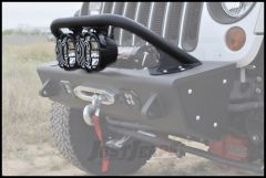 "Addictive Desert Designs Stealth Fighter Standard Top Hoop In Black for 6"" Lights For 2007-18 Jeep Wrangler JK 2 Door & Unlimited 4 Door Models F9513610101NA"