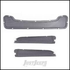 AEV Heat Reduction Hood Replacement Mesh Inserts In Black For 2007-18 Jeep Wrangler JK 2 Door & Unlimited 4 Door 40303012AA