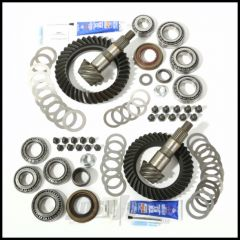 Alloy USA Front & Rear Ring & Pinion 4.56 Gear Ratio Kit For 2007-18 Jeep Wrangler & Wrangler Unlimited JK Non-Rubicon Models With Front Dana 30 Axle 360009