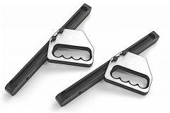 AMI Adjustable A Pillar Grab Handles For 2007-18 Jeep Wrangler JK 2 Door & Unlimited 4 Door Models 3519-