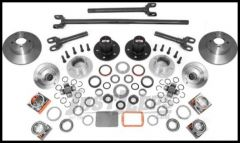 Alloy USA Front (Deluxe) Manual Locking Hub Conversion Kit For 1984-06 Jeep Wrangler YJ, TJ, Cherokee XJ & Grand Cherokee ZJ with Dana 30 Axle 12198