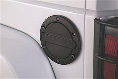 AMP Research Fuel Door In Black Powder Coat For 2007-18 Jeep Wrangler JK 2 Door & Unlimited 4 Door Models 73000-01A