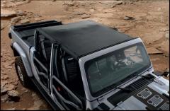 MOPAR Sun Bonnet in Black Sailcloth For 2020+ Jeep Gladiator JT 4 Door Models 82215620
