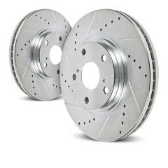 Power Stop Front Drilled And Slotted Brake Rotor For 2007-18 Jeep Wrangler JK 2 Door & Unlimited 4 Door AR8780XPR