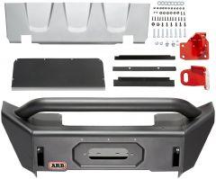 ARB Front Bondi Stubby Winch Bumper For 2018+ Jeep Gladiator JT & Wrangler JL 2 Door & Unlimited 4 Door Models 3450470