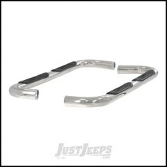 """Aries Automotive 3"""" Round Side Bars In Polished Stainless Steel For 1984-01 Jeep Cherokee XJ 201000-2"""