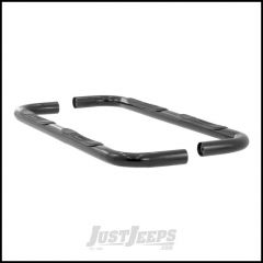 "Aries Automotive 3"" Round Side Bars In Semi Gloss Black For 1999-04 Jeep Grand Cherokee WJ Models 201001"
