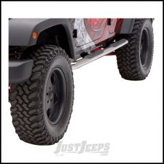 """Aries Automotive 3"""" Round Side Bars In Polished Stainless Steel For 2007-18 Jeep Wrangler JK Unlimited 4 Door Models 35700-2"""