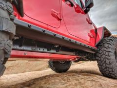 Hauk Offroad Steel Rocker Armor For 2018+ Jeep Wrangler JL Unlimited 4 Door Models ARM-2009BE
