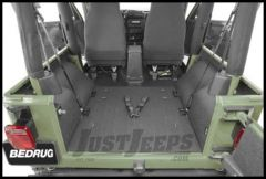 BedRug BedTred Rear Floor Liners (4 Piece Kit) For 1997-06 Jeep Wrangler TJ Models BTTJ97R