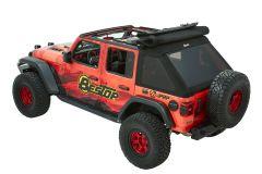 BESTOP Trektop Ultra Soft Top (Black Twill) For 2018+ Jeep Wrangler JL Unlimited 4 Door Models 54925-17