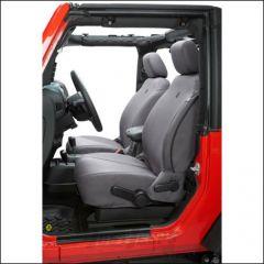 BESTOP Custom Tailored Front Seat Covers In Charcoal For 2007-12 Jeep Wrangler JK 2 Door & Unlimited 4 Door Models 29280-09