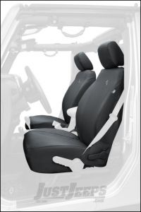 BESTOP Custom Tailored Front Seat Covers For 2007-12 Jeep Wrangler JK 2 Door & Unlimited 4 Door Models 29280-35