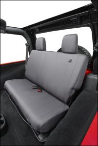 BESTOP Custom Tailored Rear Seat Covers In Charcoal For 2007-18 Jeep Wrangler JK 2 Door Models 29282-09