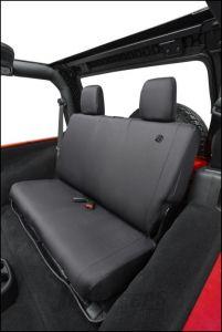 BESTOP Custom Tailored Rear Seat Covers In Black Diamond For 2007-18 Jeep Wrangler JK 2 Door Models 29282-35