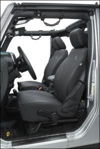 BESTOP Custom Tailored Front Seat Covers In Black Diamond For 2013-18 Jeep Wrangler JK 2 Door & Unlimited 4 Door Models 29283-35