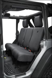 BESTOP Custom Tailored Rear Seat Covers For 2013-18 Jeep Wrangler JK 2 Door & Unlimited 4 Door Models 29284-35