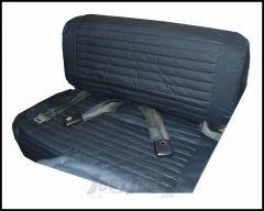 BESTOP Rear Fold & Tumble Seat Cover In Black Denim For 1965-95 Jeep Wrangler YJ & CJ Series 29223-15