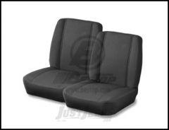 BESTOP TrailMax II Classic Low Back Front Seat In Black Crush For 1976-86 Jeep CJ Series Models 39429-01