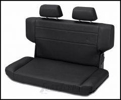 BESTOP TrailMax II Fold & Tumble Rear Bench Seat In Black Vinyl For 1997-06 Jeep Wrangler TJ 39435-01
