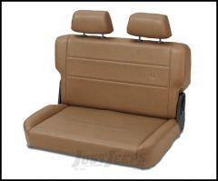 BESTOP TrailMax II Fold & Tumble Rear Bench Seat In Spice Denim For 1955-95 Jeep Wrangler YJ & CJ Series 39440-37