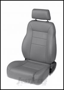 BESTOP TrailMax II Pro Front Reclining Passenger Seat In Grey Denim For 1976-06 Jeep CJ Series, Wrangler YJ & Wrangler TJ Models 39450-09