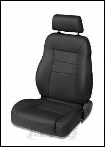 BESTOP TrailMax II Pro Front Reclining Passenger Seat In Black Denim For 1976-06 Jeep CJ Series, Wrangler YJ & Wrangler TJ Models 39450-15