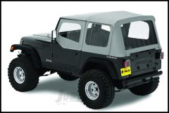 BESTOP Replace-A-Top With Door Skins & Clear Rear Windows In Grey Denim For 1988-95 Jeep Wrangler YJ Models 51120-09