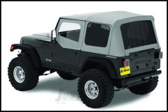 BESTOP Replace-A-Top With Half Door Skins & Tinted Rear Windows In Grey Denim For 1988-95 Jeep Wrangler YJ Models 51123-09