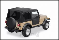 BESTOP Replace-A-Top With Half Door Skins & Tinted Rear Windows In Black Denim For 1988-95 Jeep Wrangler YJ Models 51123-15