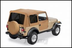 BESTOP Replace-A-Top With Half Door Skins & Tinted Rear Windows In Spice Denim For 1988-95 Jeep Wrangler YJ Models 51123-37