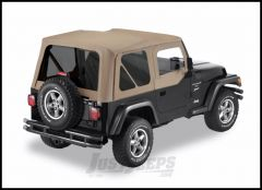 BESTOP Replace-A-Top With Half Door Skins & Tinted Windows In Dark Tan For 1997-02 Jeep Wrangler TJ Models 51124-33