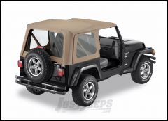 BESTOP Replace-A-Top With Clear Windows In Dark Tan For 1997-02 Jeep Wrangler TJ Fits Full Steel Doors 51127-33