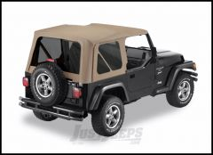 BESTOP Replace-A-Top Factory With Tinted Windows In Dark Tan For 1997-02 Jeep Wrangler TJ Models 51180-33