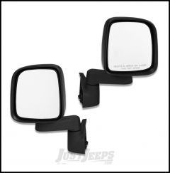 BESTOP HighRock 4X4 OE Style Replacement Mirrors For 1987-18 Jeep Wrangler YJ, TJ/TLJ & JK/JL Models 51261-01