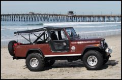 BESTOP Tigertop With 1 Piece Full Soft Doors In Black For 1955-81 Jeep CJ6 51306-01