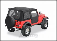 BESTOP Supertop With 2-Piece Doors & With Clear Windows In Black Denim For 1953-75 Jeep CJ-5 & M-38A1 51595-15