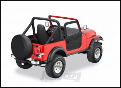BESTOP 2-Piece Soft Doors In Black Crush For 1976-86 Jeep CJ7 & CJ8 Uses Included BESTOP Door Strickers 51778-01