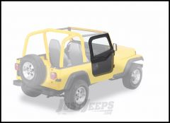 BESTOP Soft Upper Doors For Use With BESTOP Soft Tops Only With Steel Half Doors In Black Denim For 1988-95 Jeep Wrangler YJ 51780-15