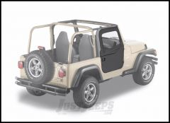 BESTOP 2-Piece Soft Doors In Black Denim For 1997-06 Jeep Wrangler TJ & TLJ Unlimited Models For Use With Factory Door Strickers 51789-15