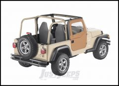 BESTOP 2-Piece Soft Doors In Spice Denim For 1997-06 Jeep Wrangler TJ & TLJ Unlimited Models For Use With Factory Door Strickers 51789-37
