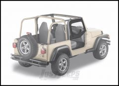 BESTOP Soft Upper Doors With Frames In Black Denim For 1997-06 Jeep Wrangler TJ & TLJ Unlimited Models With Factory Half Doors 51790-15