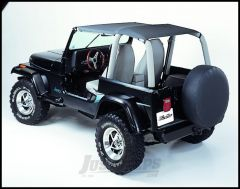 BESTOP Strapless Safari Bikini Top In Black Denim For 1992-95 Jeep Wrangler YJ