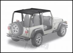BESTOP Strapless Safari Bikini Top In Black Denim For 1997-02 Jeep Wrangler TJ 52530-15