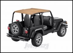 BESTOP Header Safari Bikini Top In Spice Denim For 1997-02 Jeep Wrangler TJ 52531-37